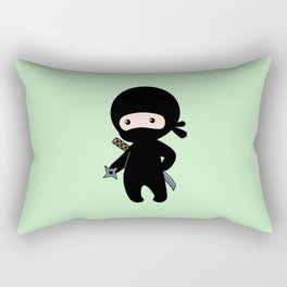 Tiny Ninja Rectangular Pillow