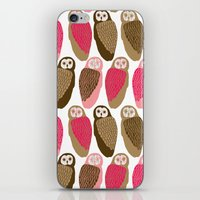 owls iPhone & iPod Skins featuring Owls by Lydia Meiying
