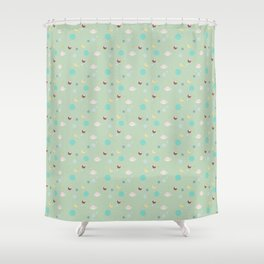 (lost my) head in space Shower Curtain