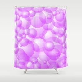 Purple Bubbles Shower Curtain
