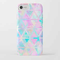 Pink pastel aztec pattern iPhone 7 Slim Case