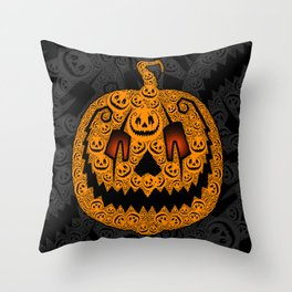 Jack of 1,000 Faces Throw Pillow