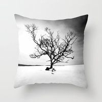 tree of life Throw Pillows featuring TREE LIFE by Maioriz Home