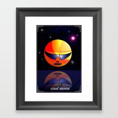 COOL MOON. Framed Art Print