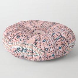 Light Pink Wildflower Sunshine II // 18th Century Colorful Pinkish Dusty Blue Gray Positive Pattern Floor Pillow