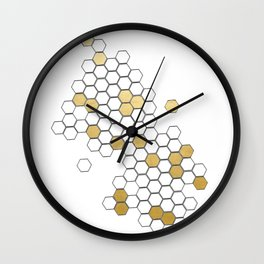Honey Comb Wall Clock