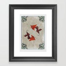 Peony gold fish Framed Art Print