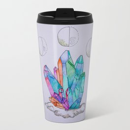 Moon Phases Crystals 1 Metal Travel Mug