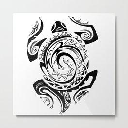 Tribal Turtle  Metal Print