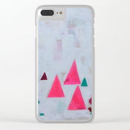 Fuchsia Monks Clear iPhone Case
