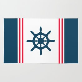Sailing wheel Rug