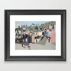 A Boy and his Penguin Framed Art Print