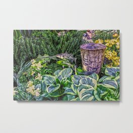 Greens and Yellows Garden Metal Print