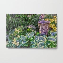 Greens and Yellows Garden Metal Print