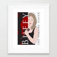 buffy the vampire slayer Framed Art Prints featuring Buffy, the vampire slayer by Rose's Creation