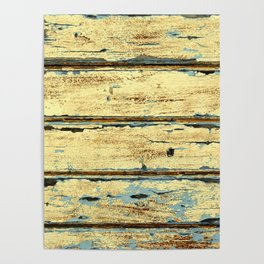 Yellow Planks, Wood Texture Decor Poster