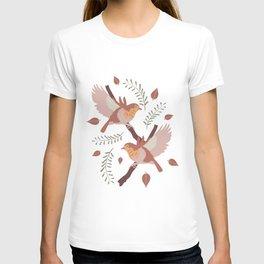flying robin birds  T-shirt