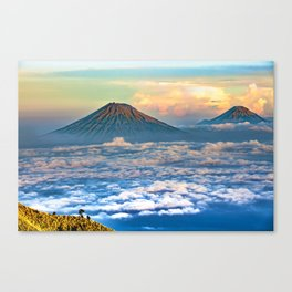Java Volcanic Landscape - Sumbing Mountain Canvas Print