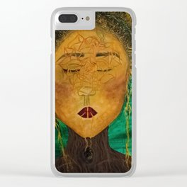 Wounded Nature Queen Clear iPhone Case