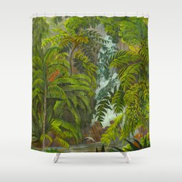 Historia naturalis palmarum - Carl Friedrich Philipp von Martius - c.1836-1850 Shower Curtain
