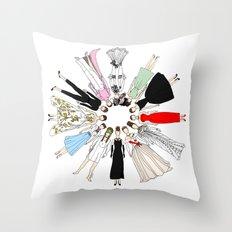 Audrey Hepburn Circle Fashion Throw Pillow