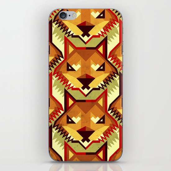 The Bold Wolf pattern iPhone & iPod Skin