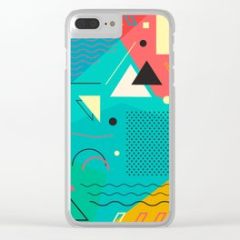 Memphis One Clear iPhone Case