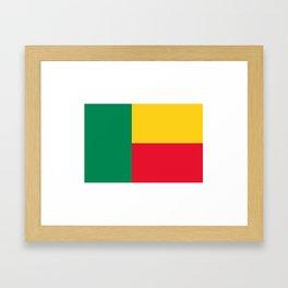 Benin Flag Framed Art Print