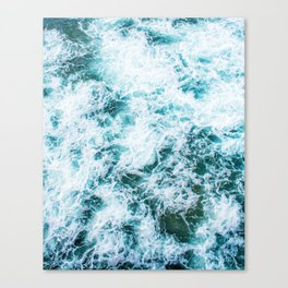 The Waves (Color) Canvas Print