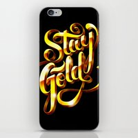 stay gold iPhone & iPod Skins featuring Stay Gold by Roberlan Borges