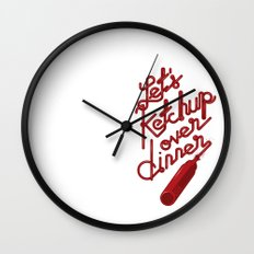 let's ketchup Wall Clock
