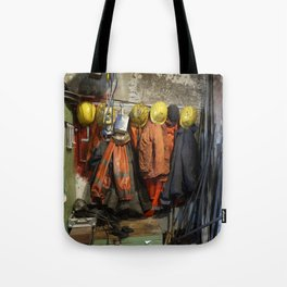 Working clothes, steam locomotives Tote Bag
