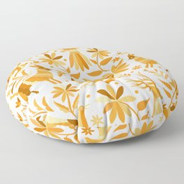 Mexican Otomí Design in Yellow Floor Pillow
