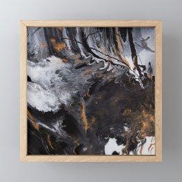 Something Completely Unlike Marble Framed Mini Art Print