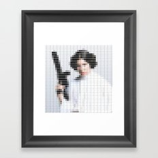 Princess Leia - StarWars - Pantone Swatch Art Framed Art Print