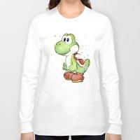 yoshi Long Sleeve T-shirts featuring Yoshi by Olechka