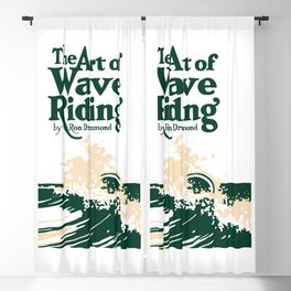 The Art of Wave Riding 1931, First Surfing Book Artwork, for Wall Art, Prints, Posters, Tshirts, Men, Women, Kids Blackout Curtain