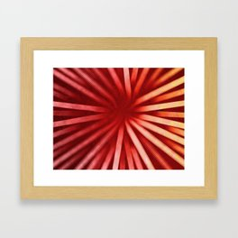 Intersecting-Red Framed Art Print