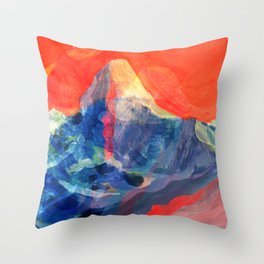 Abstract Mt. Everest Throw Pillow
