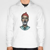 steve zissou Hoodies featuring STEVE by Joan Culum