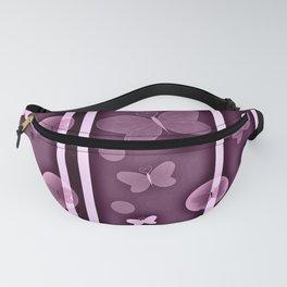 butterfly pattern purple balls children duck Fanny Pack