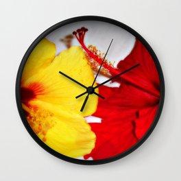 hibiscus sweethearts Wall Clock
