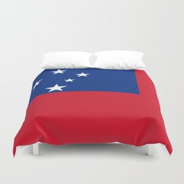 National flag of Samoa - Authentic version scale and color Duvet Cover
