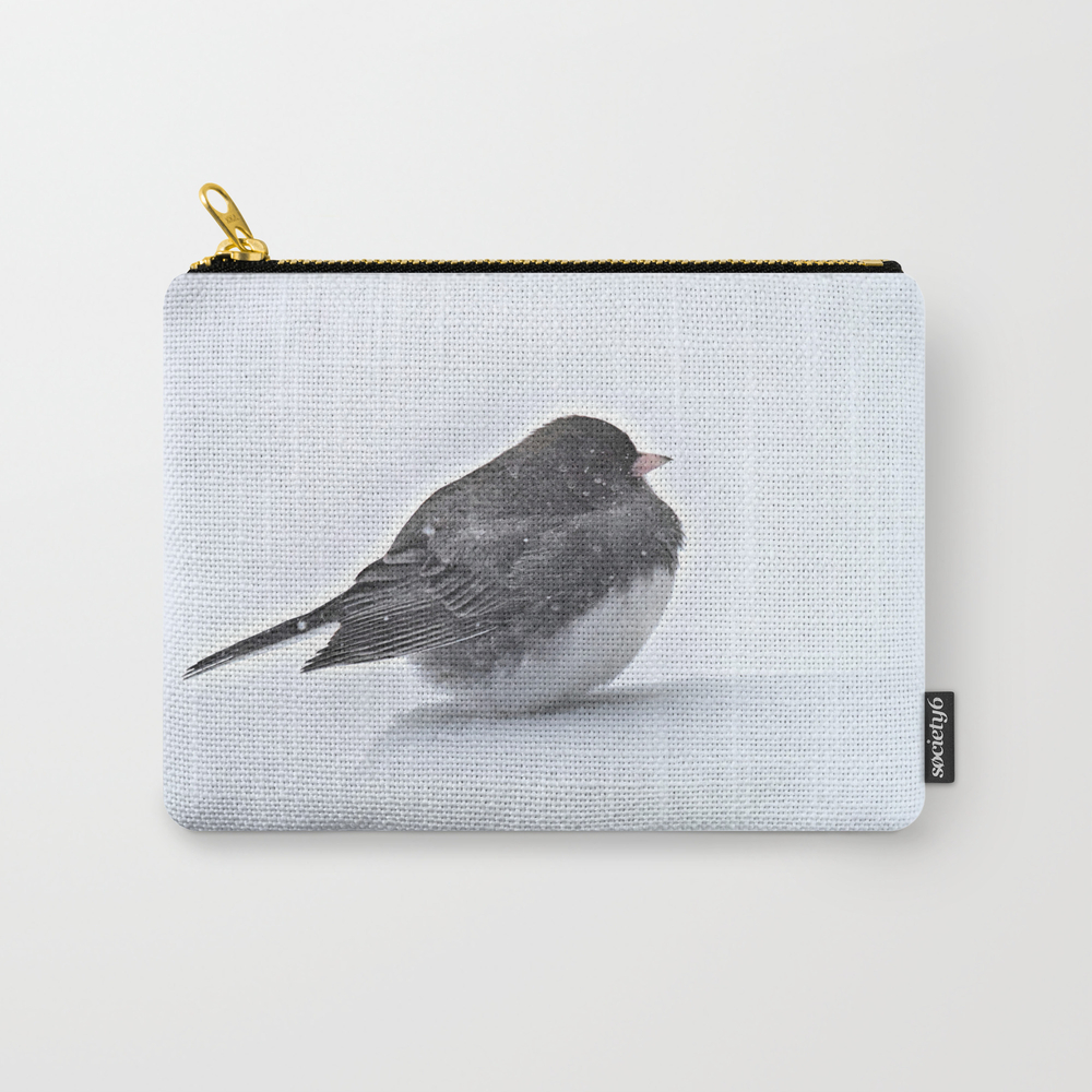 Brave Bird In A Blizzard Carry-all Pouch by Nancyacarter CAP6594041