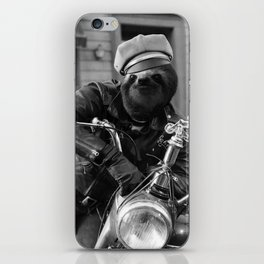 Sloth on a Motorcycle iPhone Skin