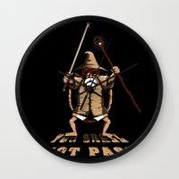 gandalf Wall Clocks featuring Muten Roshi Gandalf by le.duc