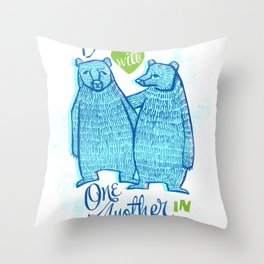 BEAR IN LOVE Throw Pillow