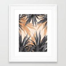 Orange Tropics Framed Art Print