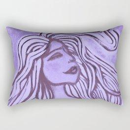 Purple Lotus Turtle Rectangular Pillow