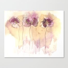 Fragrance - Abstract Flowers Watercolour Canvas Print